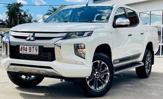 2021 Mitsubishi Triton MR MY21 GLX-R Double Cab White 6 Speed Manual Utility.
