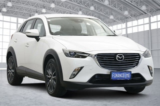 2018 Mazda CX-3 DK2W7A sTouring SKYACTIV-Drive White 6 Speed Sports Automatic Wagon.