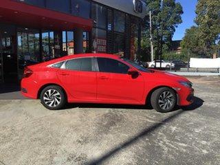 2018 Honda Civic 10th Gen MY18 VTi-S Rally Red 1 Speed Constant Variable Sedan.