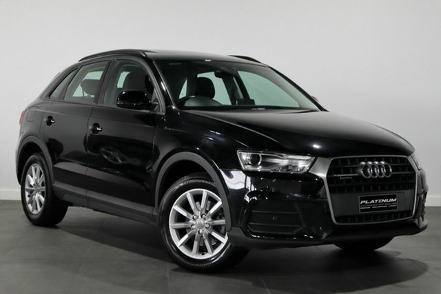 Used Audi Q3 8U MY17 TDI S Tronic Quattro Bayswater, 2016 Audi Q3 8U MY17 TDI S Tronic Quattro Black 7 Speed Sports Automatic Dual Clutch Wagon