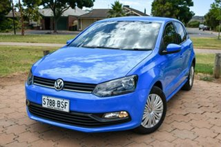 2017 Volkswagen Polo 6R MY17 66TSI DSG Trendline Blue 7 Speed Sports Automatic Dual Clutch Hatchback.
