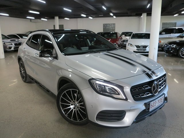 Used Mercedes-Benz GLA-Class X156 808+058MY GLA250 DCT 4MATIC Albion, 2018 Mercedes-Benz GLA-Class X156 808+058MY GLA250 DCT 4MATIC Silver 7 Speed