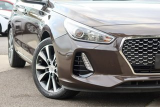 2017 Hyundai i30 PD MY18 Elite D-CT Brown 7 Speed Sports Automatic Dual Clutch Hatchback