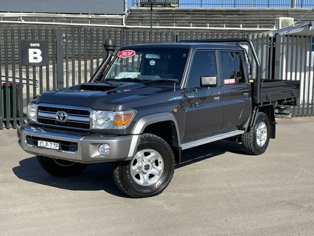 Used Toyota Landcruiser VDJ79R GXL Double Cab Newcastle, 2020 Toyota Landcruiser VDJ79R GXL Double Cab Grey 5 Speed Manual Cab Chassis