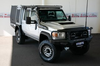 2016 Toyota Landcruiser VDJ79R MY12 Update GXL (4x4) Silver Pearl 5 Speed Manual Double Cab Chassis.