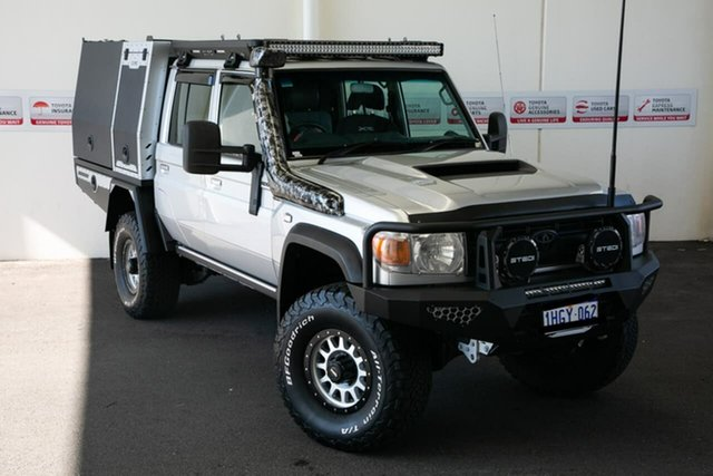 Pre-Owned Toyota Landcruiser VDJ79R MY12 Update GXL (4x4) Rockingham, 2016 Toyota Landcruiser VDJ79R MY12 Update GXL (4x4) Silver Pearl 5 Speed Manual Double Cab Chassis