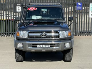 2020 Toyota Landcruiser VDJ79R GXL Double Cab Grey 5 Speed Manual Cab Chassis.