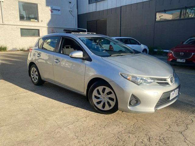 Used Toyota Corolla ZRE182R Ascent S-CVT South Melbourne, 2015 Toyota Corolla ZRE182R Ascent S-CVT Silver 7 Speed Constant Variable Hatchback