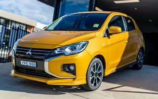 2021 Mitsubishi Mirage LB MY22 LS Sand Yellow 1 Speed Constant Variable Hatchback.