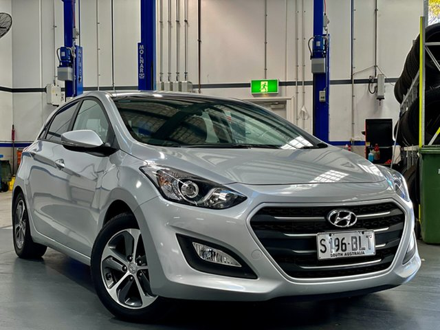 Used Hyundai i30 GD4 Series II MY17 Active X Reynella, 2016 Hyundai i30 GD4 Series II MY17 Active X Sleek Silver 6 Speed Sports Automatic Hatchback