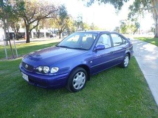 2001 Toyota Corolla AE112R Ascent Blue Automatic Liftback.