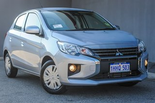 2021 Mitsubishi Mirage LB MY22 ES Cool Silver 1 Speed Constant Variable Hatchback.