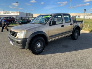 2004 Holden Rodeo RA LX Beige 5 Speed Manual Crew Cab Pickup.