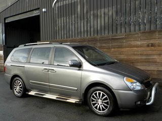 2010 Kia Grand Carnival VQ MY11 SLi Silver 6 Speed Sports Automatic Wagon.