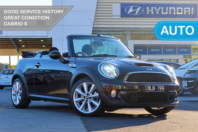Used Mini Cabrio R57 LCI Cooper S Steptronic South Melbourne, 2013 Mini Cabrio R57 LCI Cooper S Steptronic Brown 6 Speed Sports Automatic Convertible
