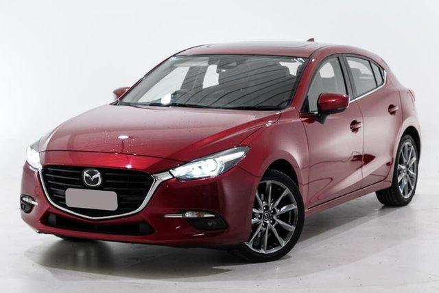 Used Mazda 3 BN5438 SP25 SKYACTIV-Drive Astina Berwick, 2017 Mazda 3 BN5438 SP25 SKYACTIV-Drive Astina Red 6 Speed Sports Automatic Hatchback