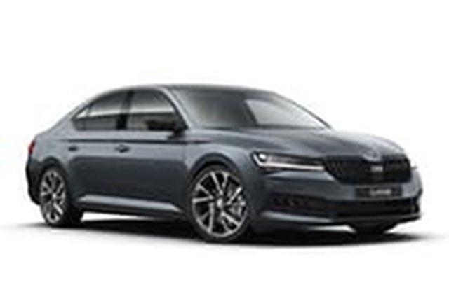 Demo Skoda Superb NP MY21 206TSI Sedan DSG SportLine Hamilton, 2020 Skoda Superb NP MY21 206TSI Sedan DSG SportLine Quartz Grey 6 Speed