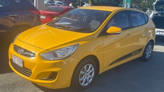 2013 Hyundai Accent RB Active Yellow 4 Speed Sports Automatic Hatchback.