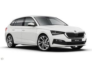 2020 Skoda Scala NW MY21 110TSI DSG White 7 Speed Sports Automatic Dual Clutch Hatchback.