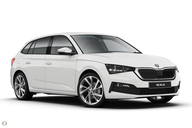 New Skoda Scala NW MY21 110TSI DSG Seaford, 2020 Skoda Scala NW MY21 110TSI DSG White 7 Speed Sports Automatic Dual Clutch Hatchback