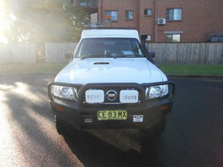 2015 Nissan Patrol MY14 DX (4x4) White 5 Speed Manual Leaf Cab Chassis