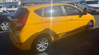 2013 Hyundai Accent RB Active Yellow 4 Speed Sports Automatic Hatchback