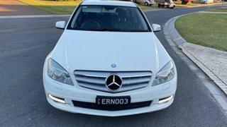 2010 Mercedes-Benz C220 W204 CDI Classic White 5 Speed Auto Tipshift Sedan.
