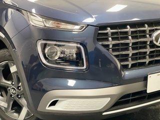 2020 Hyundai Venue QX MY20 Elite The Denim & Chalk White Roof 6 Speed Automatic Wagon.