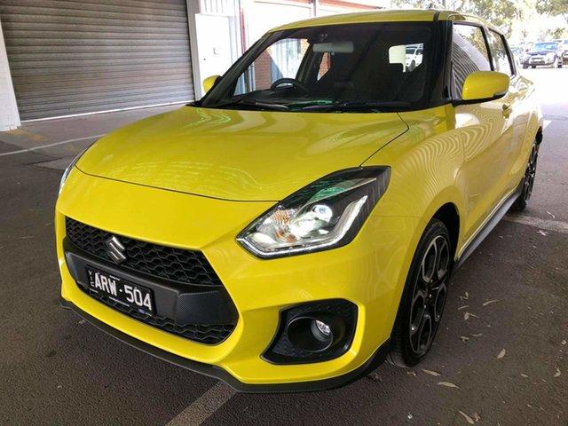 Used Suzuki Swift AZ Sport Epsom, 2018 Suzuki Swift AZ Sport Yellow 6 Speed Sports Automatic Hatchback