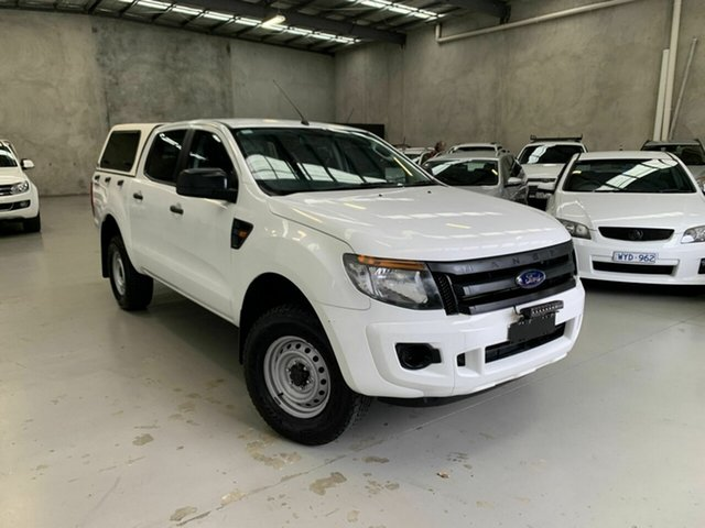 Used Ford Ranger PX XL Coburg North, 2013 Ford Ranger PX XL White 6 Speed Manual Utility