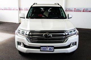 2018 Toyota Landcruiser VDJ200R MY16 Sahara (4x4) Crystal Pearl 6 Speed Automatic Wagon.