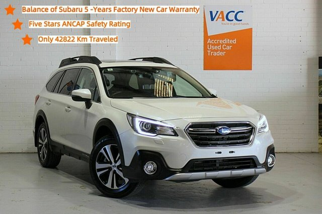 Used Subaru Outback B6A MY19 2.5i CVT AWD Premium Moorabbin, 2019 Subaru Outback B6A MY19 2.5i CVT AWD Premium White 7 Speed Constant Variable Wagon