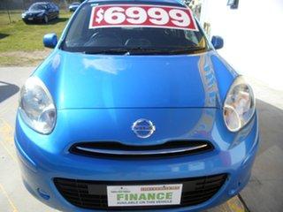 2012 Nissan Micra K13 ST Blue 5 Speed Manual Hatchback.