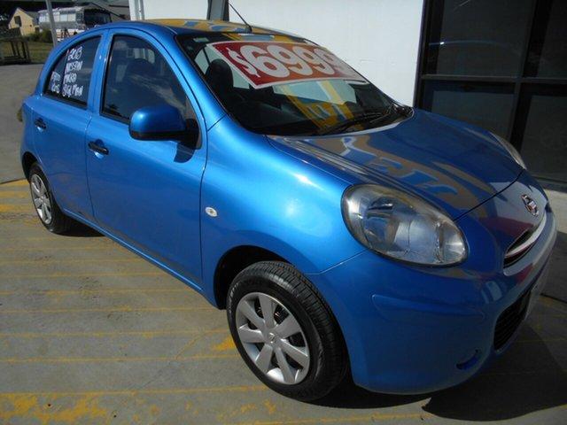 Used Nissan Micra K13 ST Springwood, 2012 Nissan Micra K13 ST Blue 5 Speed Manual Hatchback