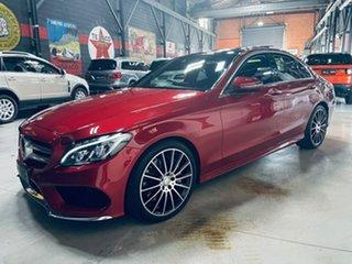 2016 Mercedes-Benz C-Class W205 806+056MY C250 7G-Tronic + Red 7 Speed Sports Automatic Sedan