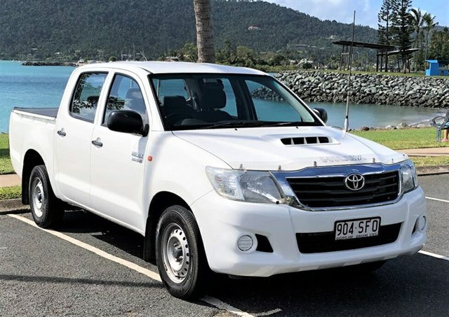 Used Toyota Hilux KUN16R MY12 SR Double Cab 4x2 Proserpine, 2012 Toyota Hilux KUN16R MY12 SR Double Cab 4x2 White 5 Speed Manual