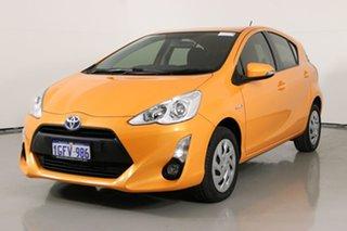 2017 Toyota Prius c NHP10R MY15 Hybrid Orange Continuous Variable Hatchback.