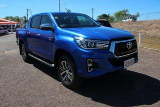 2019 Toyota Hilux GUN126R SR5 Double Cab Nebula Blue 6 Speed Automatic Dual Cab.
