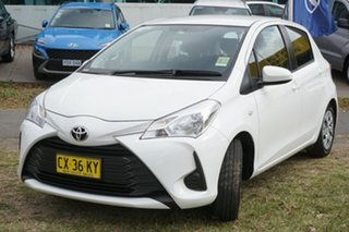 2017 Toyota Yaris NCP130R Ascent White 4 Speed Automatic Hatchback