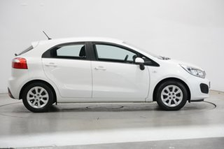 2013 Kia Rio UB MY14 S White 4 Speed Sports Automatic Hatchback