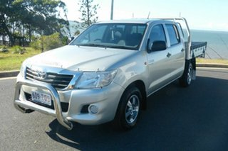 2013 Toyota Hilux GGN15R MY12 SR Double Cab 4x2 Grey 5 Speed Automatic Utility
