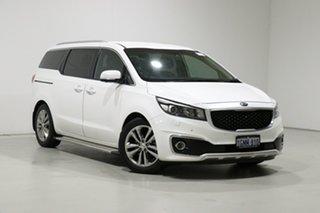 2018 Kia Carnival YP MY18 Platinum White 6 Speed Automatic Wagon.