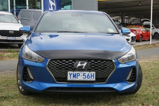 2017 Hyundai i30 PD MY18 SR D-CT Marina Blue 7 Speed Sports Automatic Dual Clutch Hatchback.