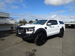 2017 Ford Ranger PX MkII 2018.00MY XLS Double Cab White 6 Speed Automatic Utility.