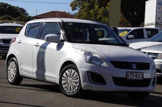 2015 Suzuki Swift FZ MY15 GL White 5 Speed Manual Hatchback.