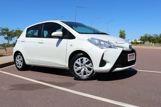 2019 Toyota Yaris NCP130R Ascent Crystal Pearl 4 Speed Automatic Hatchback.