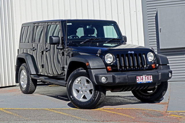 Used Jeep Wrangler JK MY2013 Unlimited Sport Springwood, 2013 Jeep Wrangler JK MY2013 Unlimited Sport Black 5 Speed Automatic Softtop