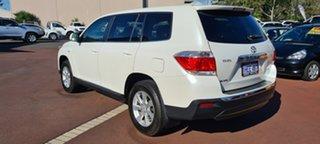 2012 Toyota Kluger GSU45R MY12 KX-R AWD Pearl White 5 Speed Sports Automatic Wagon