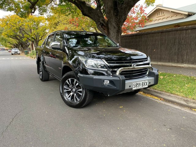 Pre-Owned Holden Colorado RG MY18 LTZ Pickup Crew Cab Hawthorn, 2017 Holden Colorado RG MY18 LTZ Pickup Crew Cab Black 6 Speed Sports Automatic Utility