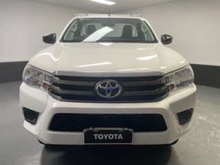 2017 Toyota Hilux GUN126R SR White 6 Speed Manual Cab Chassis.